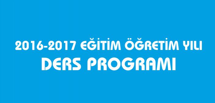 2016-2017 Enderun Liseleri Ders Programı