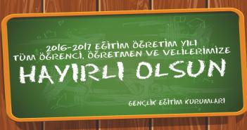 2016-2017 Eğitim Öğretim Yılı Hayırlı Olsun