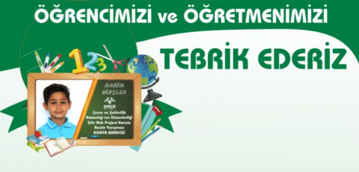 Çevre ve Şehircilik Bakanlığı'nın Düzenlediği Resim Yarışması Konya Birincimiz