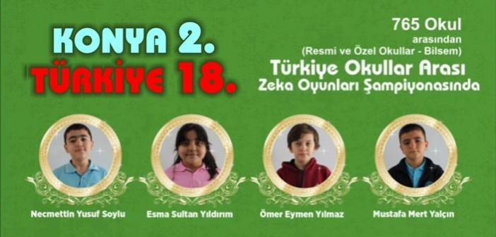 Türkiye Okullar Arası Zeka Oyunları Şampiyonasında Türkiye Derecesi