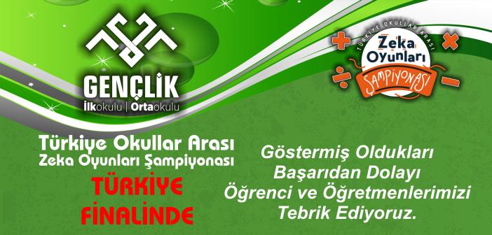 Türkiye Okullar Arası Zeka Yarışmasında Büyük Başarı…