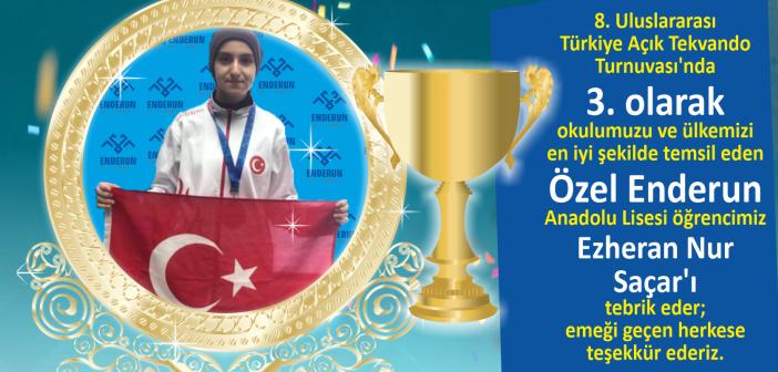 8. Uluslararası Türkiye Açık Tekvando Turnuvası'nda 3.lük