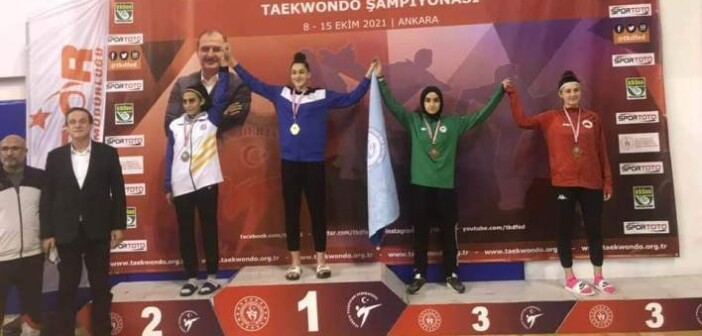 Gençler Taekwondo Şampiyonasında Türkiye 3.süyüz